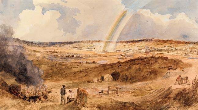 The_end_of_rainbow_Golden_Square_1857_George_Rowe